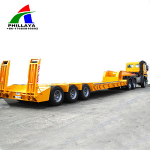 Fuwa Axles Gooseneck Heavy Duty Truck Lowbed Semi-Trailer pictures & photos
