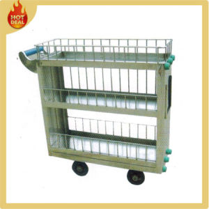 Metal Train Meal Delivery Service Cart Trolley pictures & photos