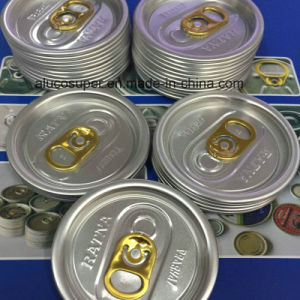 202 Aluminum Lids for Easy Open Cans for Food Juice Beer pictures & photos