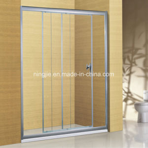 Modern Hotel Three Interactive Sliding Door Shower Screen (A-8904) pictures & photos