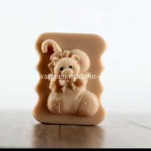 R0484 Handmade Silicone Christmas Stocking Socks Shape Cartoon Bear Soap Molds