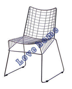 Modern Dining Restaurant Stackable Strings Steel Wire Chair pictures & photos