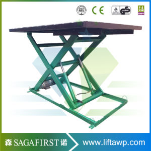 Small Hydraulic Fixed in Ground Economy Scissor Lift pictures & photos