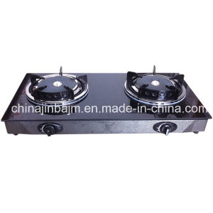 2 Burners Tempered Glass Top Stainless Steel Gas Cooker/Gas Stove pictures & photos