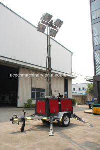 10 Meters 9000W Mobile Light Tower