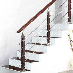 Guangzhou wooden handrail for porch steps for interior stairs(HR1338B-4) pictures & photos