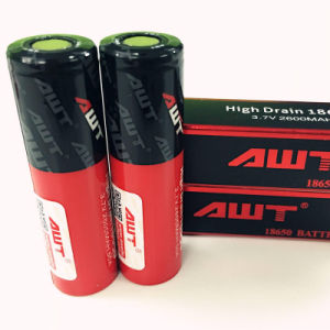 Awt Newest 50A Awt 18650 2600mAh Awt 50A/3500mAh 35A 18650 Ecig Battery 3.7V Battery pictures & photos