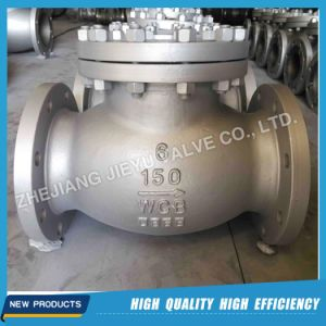 "150lbs-1500lbs 2""-24"" Cast Stainless Steel Swing Check Valves A216 Wcb Wc6 CF8m pictures & photos"