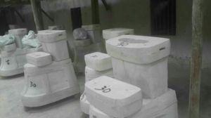 S-Trap Standing Floor Sanitary Ware Ceramic Toilet pictures & photos