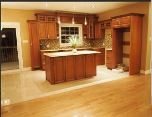 Guanjia Kitchen Maple Solid Wood Home Furnitures Kc-080 pictures & photos