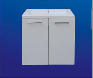 White Shinning Main Cabinet and Mirror Bathroom Cabinet (3135) pictures & photos