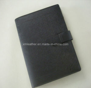 Black A5 Faux Leather Planner Notebook Cover with Ring Binder pictures & photos