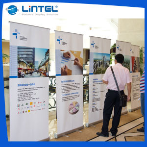 Teardrop Roll up Banner Stand Scrolling Pull up Banner (LT-0B) pictures & photos