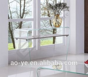 Modern12mm Hot Bent Glass Console Table/Plywood with Ashtree Veneer pictures & photos