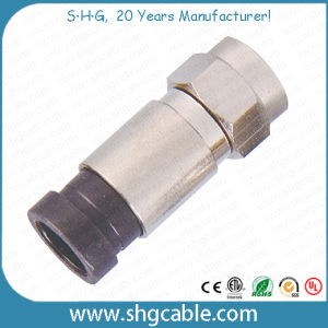 RF Coaxial Cable Rg59 RG6 Rg11 F Compression Connector (F037) pictures & photos
