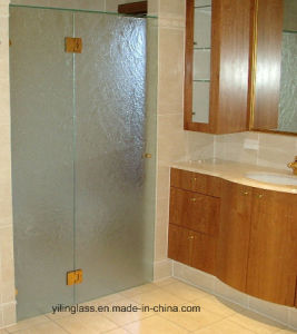 Tempered/Toughened Figured Shower Cubicle Glass pictures & photos
