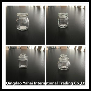 450ml Clear Glass Storage Jar with Glass Lid pictures & photos
