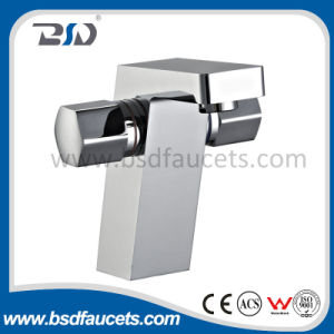 Double Handles Square Brass Bathroom Chrome Washing Basin Faucet Mixers pictures & photos
