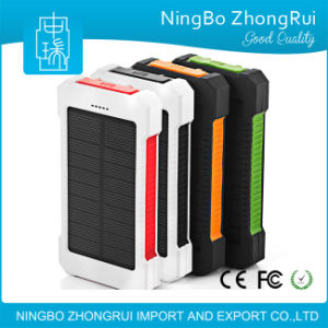Hot Sell Product Mobile Phone Solar Power Bank Charger 10000mAh pictures & photos