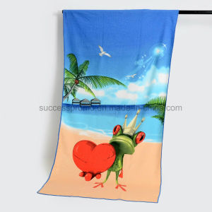 SGS Certificated Custom Reactive Printed Beach Towel, Excellent Water Absorption pictures & photos