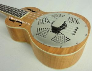 China Aiersi High Quality Okoume Body Resonator Ukulele pictures & photos