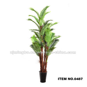 Three Branches Artificial Hawai Fern Tree 0487