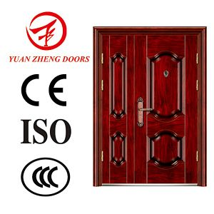 Steel Security Interior Double Office Doors Made in China pictures & photos