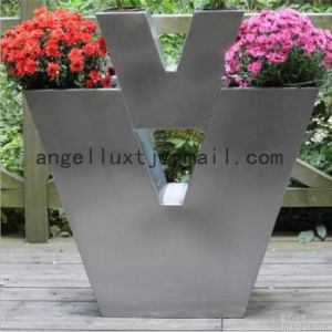Enterprise Exhibition Hall Metal Flowerpot Custom Stainless Steel Garden Decoration Flower Pot pictures & photos