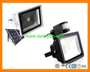 Solar 50W LED Flood Light with PIR Sensor pictures & photos