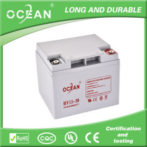 12V 38ah Rechargeable Battery Solar, AGM Battery Manufucturer