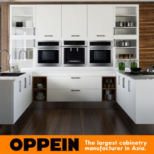 Indonesia Modern White U Shape Kitchen Cabinet (OP15-M06) pictures & photos