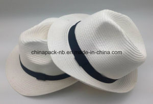 Foldable White Panama Paper Straw Hats (CPA_60231) pictures & photos