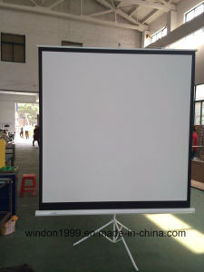 "Factory Price 70""X70"" Tripod Projection Screen with Matte White pictures & photos"