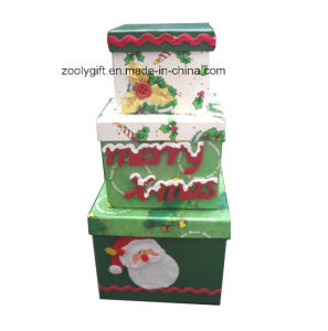 Decorated Printed Paper Christmas Nestable Gift Boxes pictures & photos