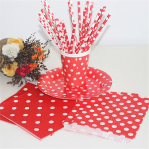 Disposable&Eco-Friendly Party Custom Printed Paper Drinking Straws for Party pictures & photos