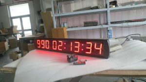 """4"""" 9 Digits Days LED Countdown/up Clock, Red Color Character, Support Max 1000 Days Countdown or Count up with Hours Minutes Seconds pictures & photos"""