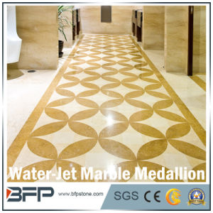 Marble Water Jet Medallion Natural Stone Mosaic Pattern for Lobby/Interior Flooring pictures & photos