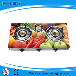 Tempered Glass Panel LNG Gas Cooker pictures & photos