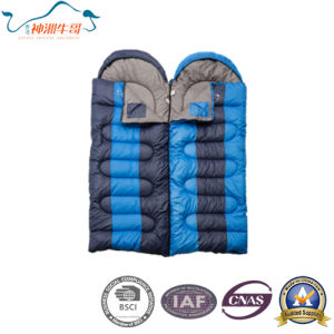 Warm and Comfortable Double Sleeping Bag Waterproof pictures & photos