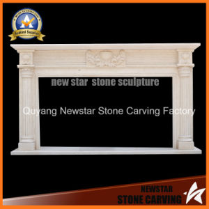 Stone Carving Home Furniture Sculpture Fireplace Surround for Decoration pictures & photos
