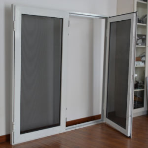 High Quality Aluminum Profile Casement Window with Multi Lock Stainless Steel Screen K03027 pictures & photos