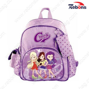 Purple Satin Lovely Backpack School Bags for Teenage Girls pictures & photos