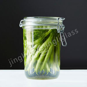 Clip Lid Glass Jar / Glass Jar pictures & photos