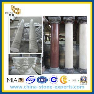 Marble Stone Column and Pillar (cream, black, green, yellow, beige etc) pictures & photos