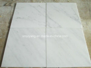 East White Marble Stone Tile for Kitchen Counter Top pictures & photos