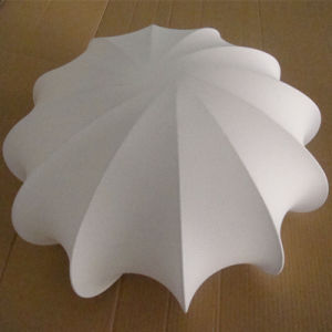 European Hotel Decorative White Fabric Umbrella Type Ceiling Lamp pictures & photos