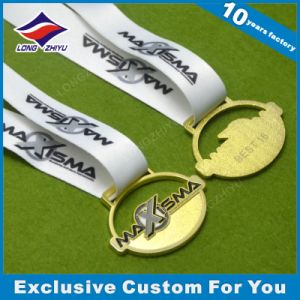 Hollow out Medal with Ribbon Gold Finished pictures & photos
