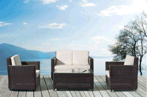 Outdoor Leisure Plastic Rattan Sofa pictures & photos