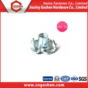 Bule White Zinc-Plated Tee Nut /Four Claw Nut, High Quality pictures & photos