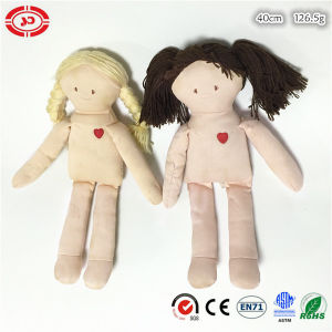 Naked DIY Kids Soft Plush Stuffed Doll with Hair pictures & photos